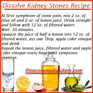 dissolve kidney stones recipe